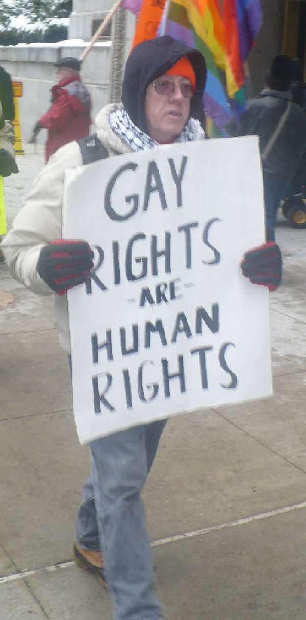 Gay rights protest human rights day