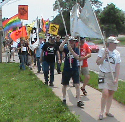 Free Bradley Manning March in Leavenworth, Kansas.
