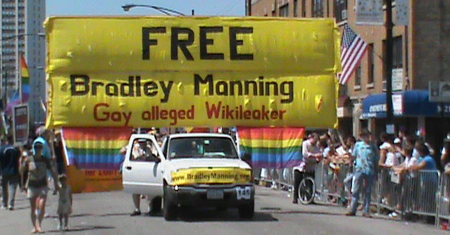 March With the Free Bradley Manning Contingent @ Gay Pride!